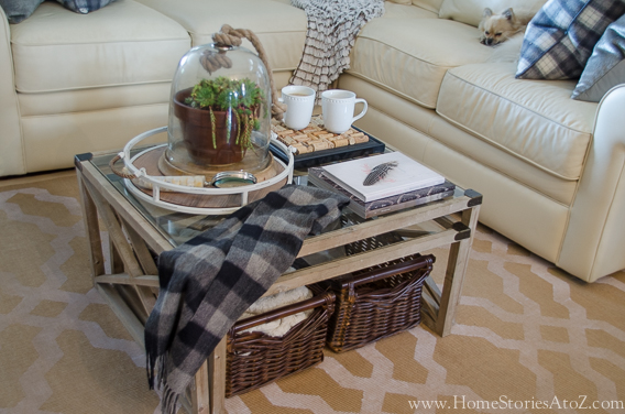 coffee table decorating fall