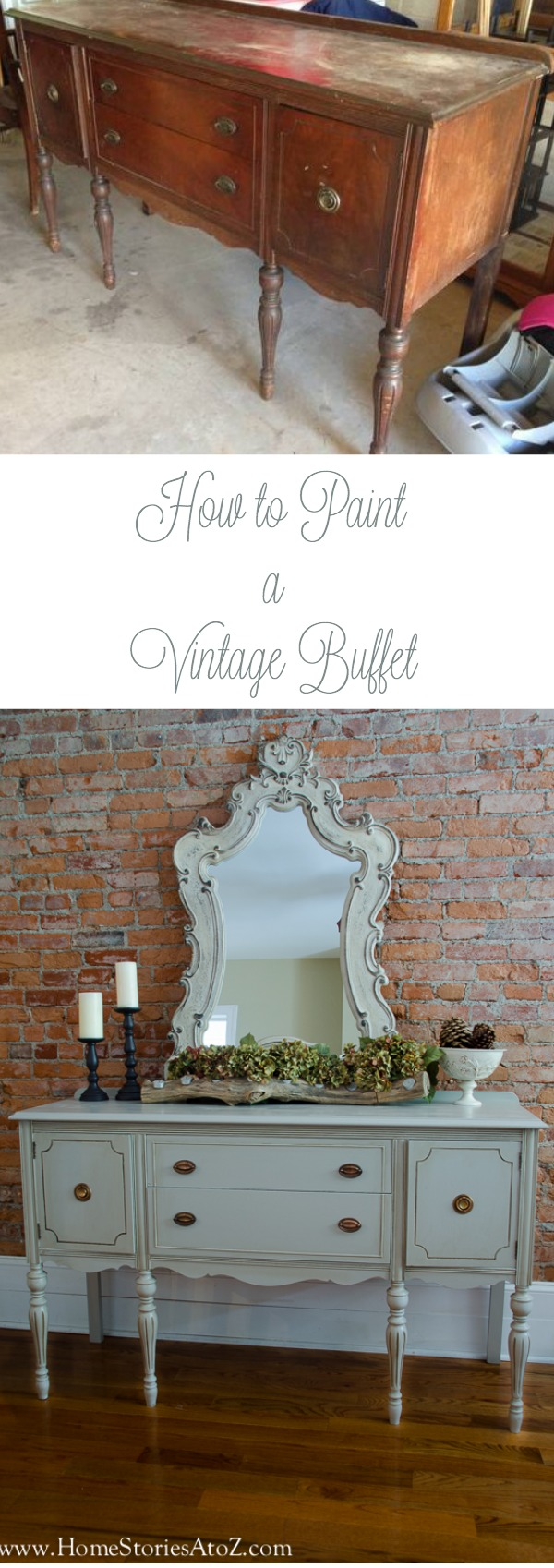 How to paint a vintage buffet
