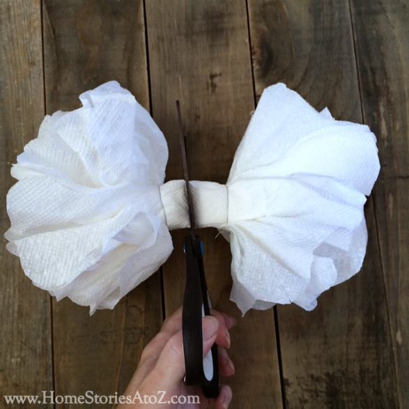how to make paper towel flowers