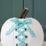 DIY White Corset Pumpkin