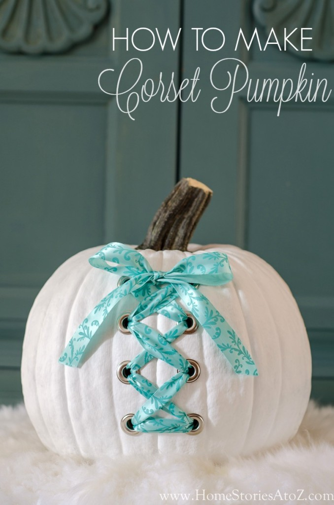 DIY corset pumpkin how to make