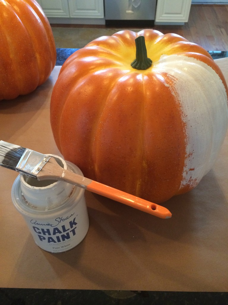 paint pumpkins chalk paint