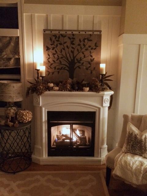 cozy fall fireplace