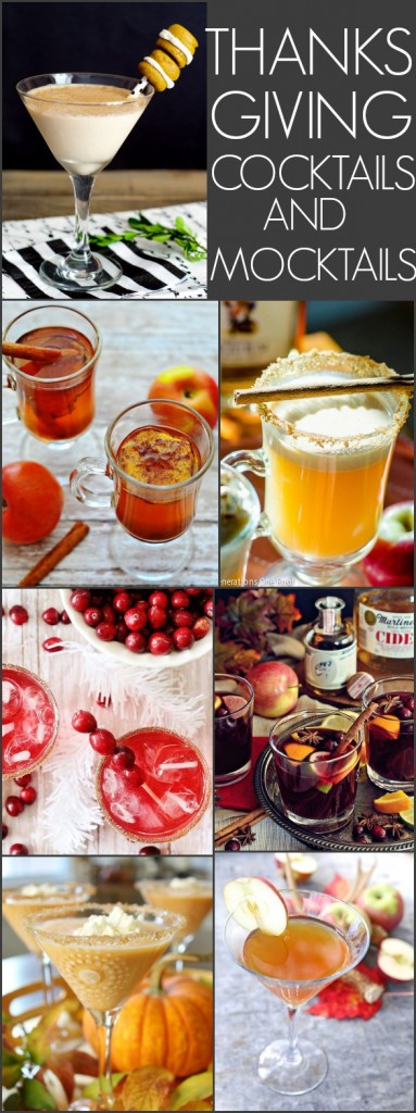 THANKSGIVING COCKTAILS AND MOCKTAILS RECIPES