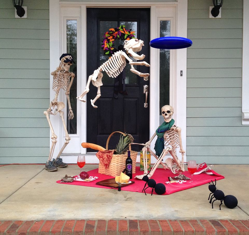 Porch decorating for Halloween