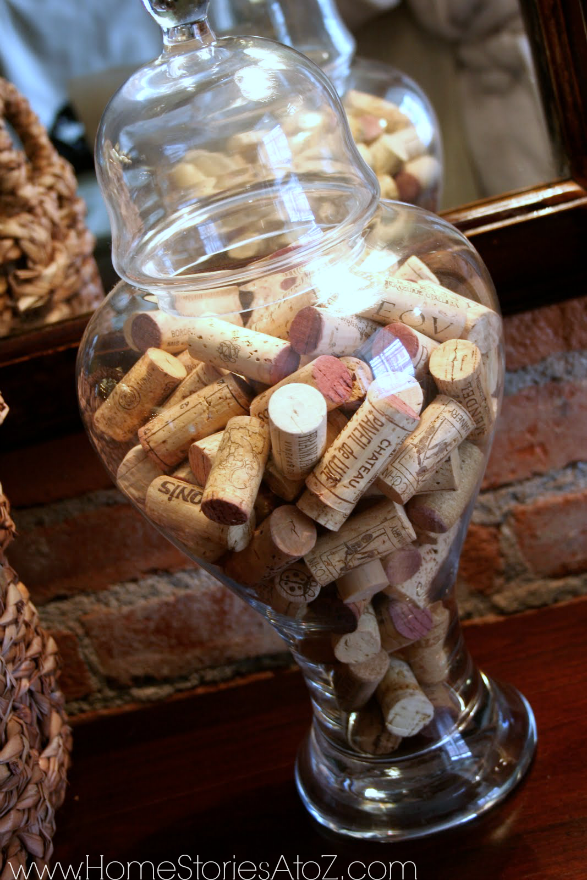 wine corks in jar