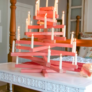 DIY wooden candle christmas tree