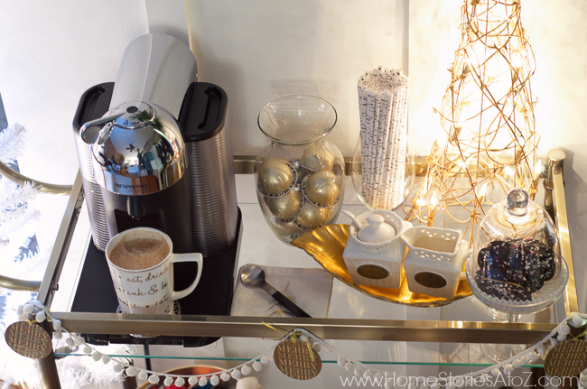 coffee bar cart