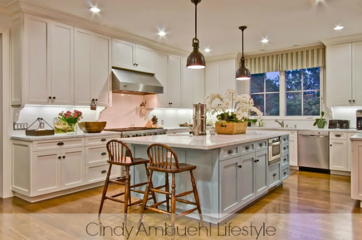 White Kitchen Inspiration via Cindy Ambuehl  Home Stories A to Z