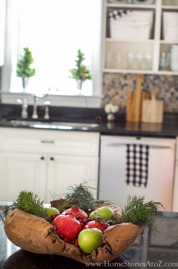Christmas fruit bowl