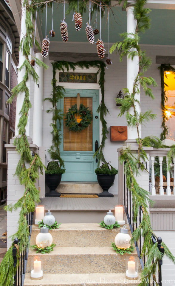 Holiday Porch Decorating Ideas Part - 41: Christmas Porch Decorating Idea