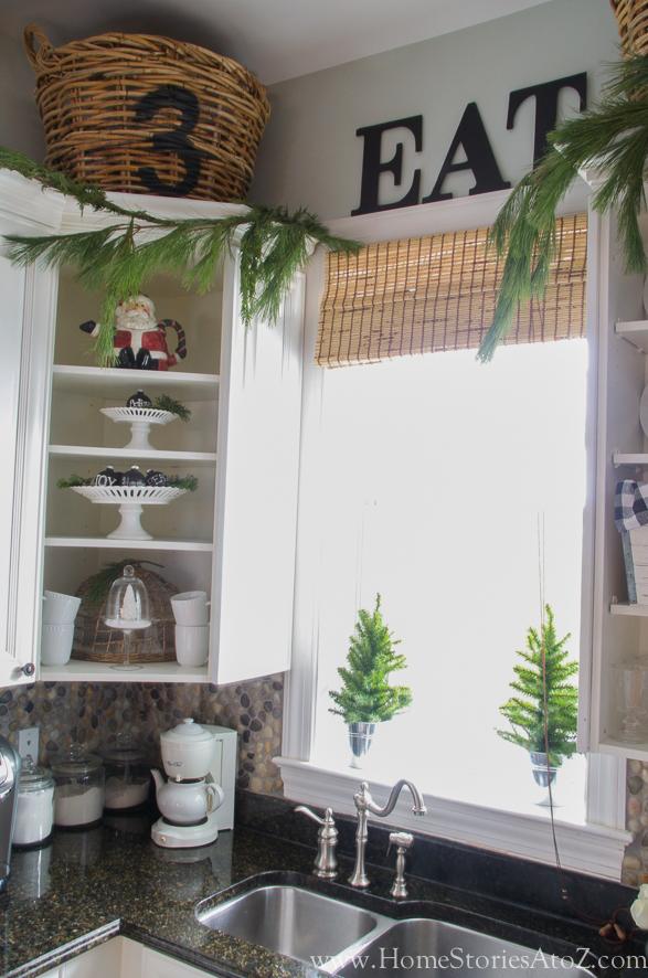 Kitchen shelves for Christmas