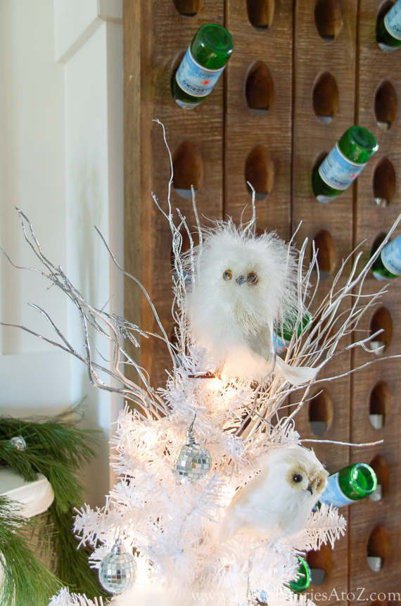 White owl Christmas tree 2