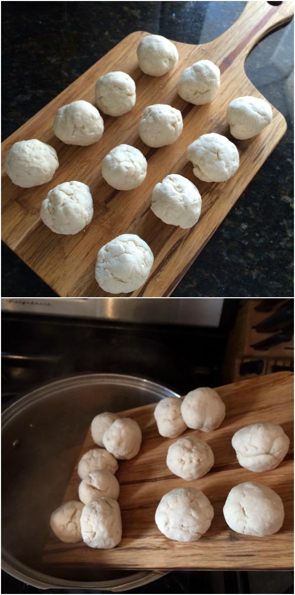 Dumplings for chicken dumpling soup