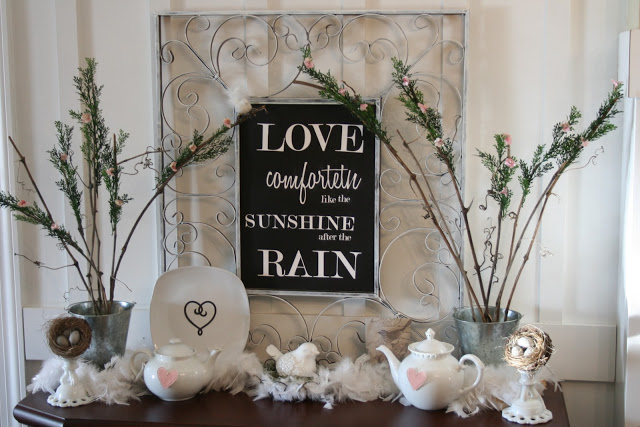 love comforteth after the rain. How to Decorate Your Mantel after Christmas   Home Stories A to Z