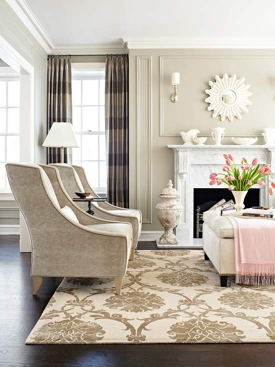 masculine and feminine living room