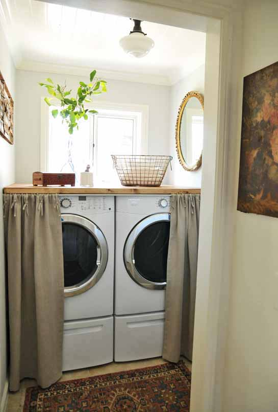 25 small laundry room ideas home stories a to z - Washing machine for small spaces gallery ...