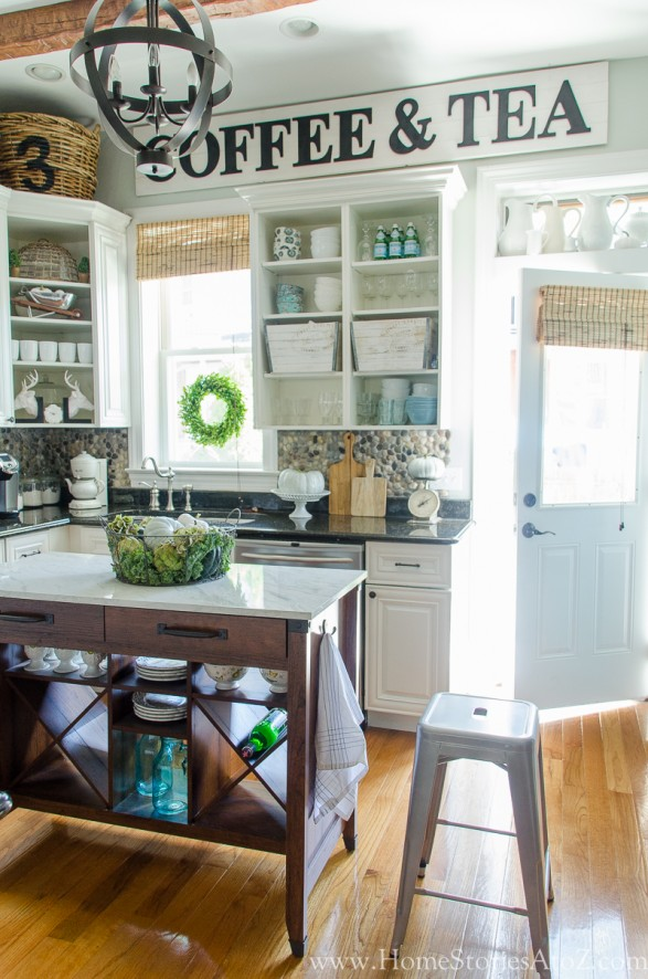 Farmhouse Kitchen Products to get the Fixer Upper Look  : Fall kitchen 2 587x886 from www.homestoriesatoz.com size 587 x 886 jpeg 139kB