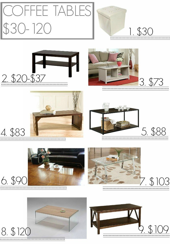 Inexpensive coffee tables