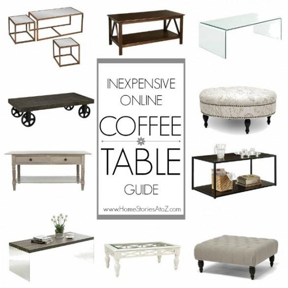 Inexpensive online coffee table guide