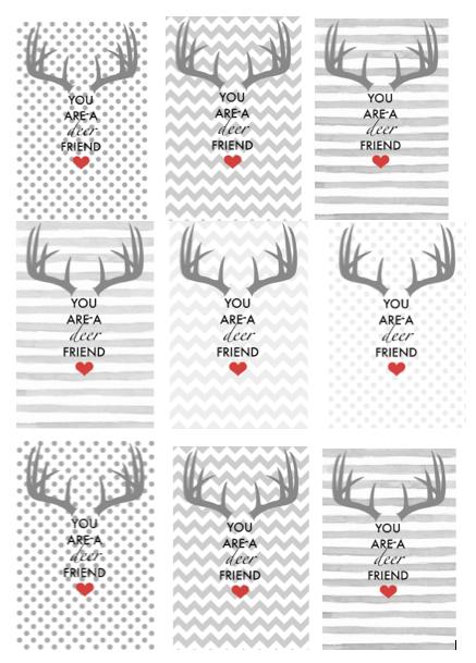 Antler Valentine Printable