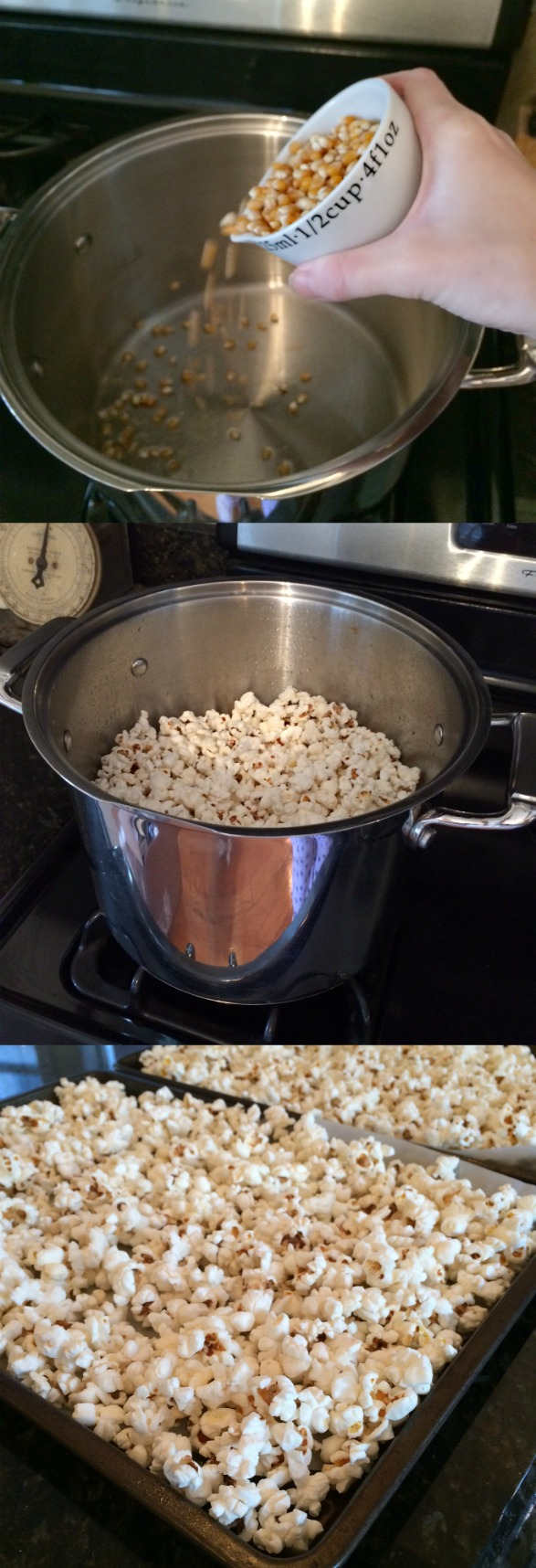 how to cook popcorn on a pan