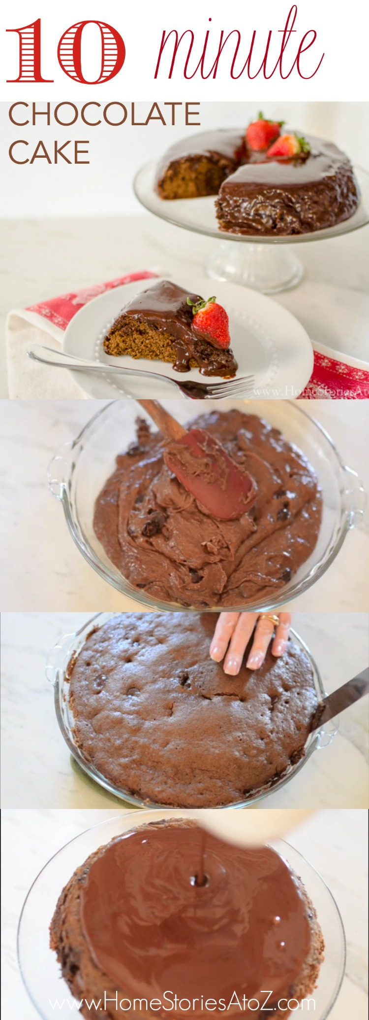 10 minute chocolate cake recipe