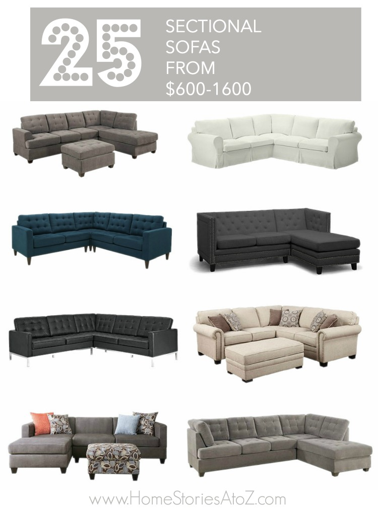 25 inexpensive sectional sofas