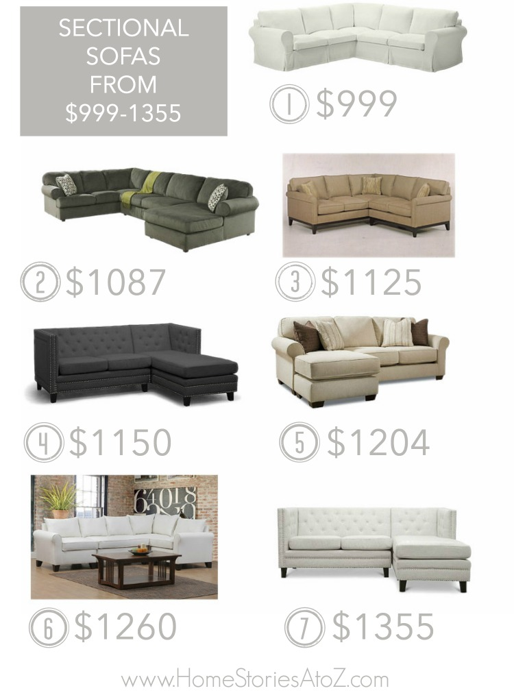 Affordable sectional sofas