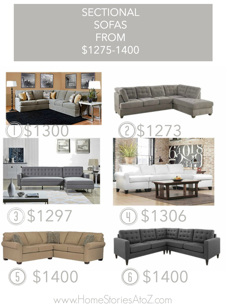 Inexpensive sectional sofas