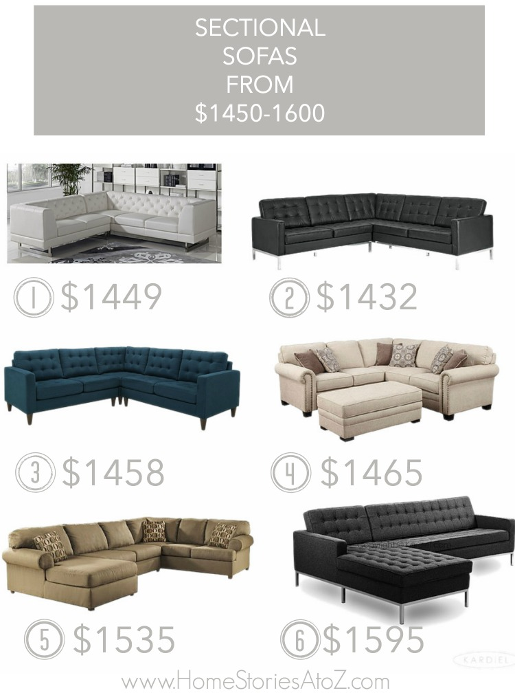 25 Affordable Sectional Sofas For Under 1600