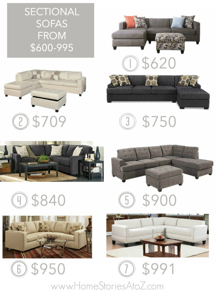 Etonnant Sectional Sofas Under $1000