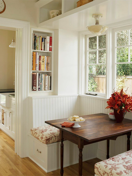 Small Kitchen Seating Ideas Part - 22: Built In Kitchen Banquette