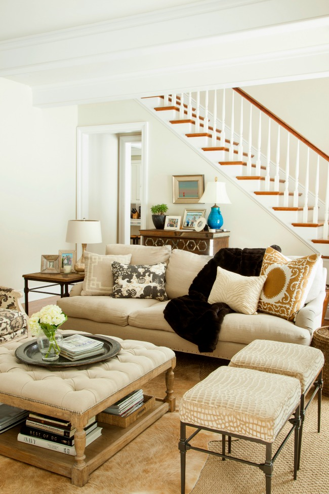 How to blend masculine and feminine decorating styles - Pictures of decorated living rooms ...
