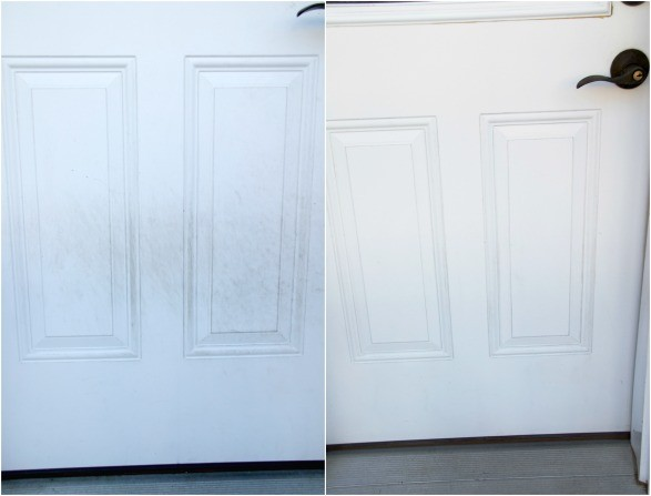 Clean door before and after