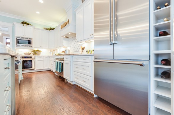 Coastal kitchen home stories a to z for Beach kitchen cabinets