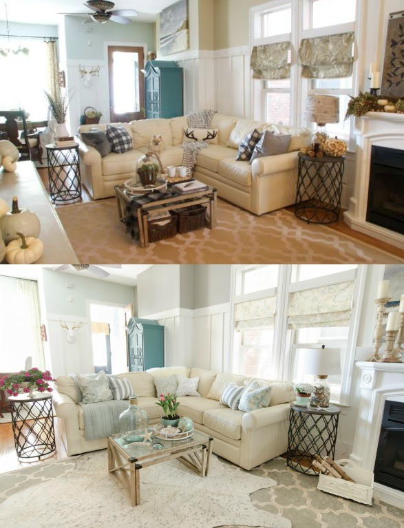 Dorian Gray Family Room Reveal With Gallery Wall on Living Room With Gray Couch