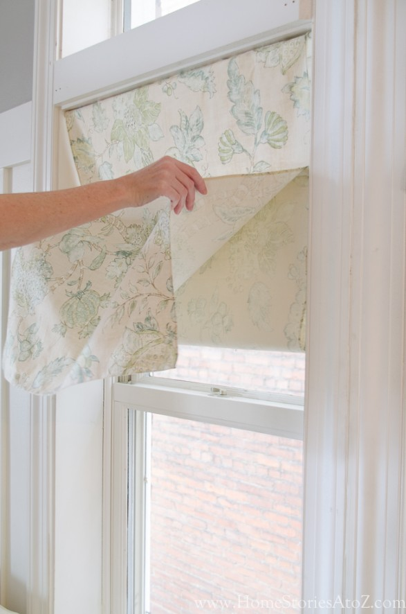 how to make a faux roman shade-6