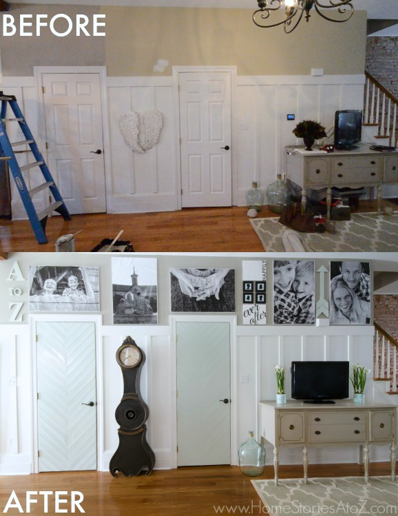 Affordable Dorian Gray Family Room Reveal With Gallery Wall Home Stories A  To Z With Kitchen Gallery Wall.