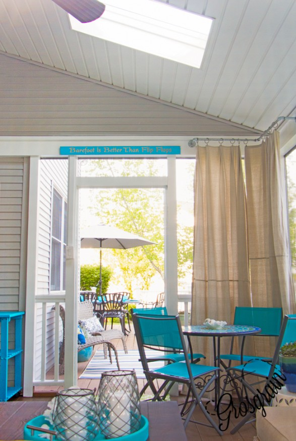 Lowe\'s Screen Porch & Deck Makeover Reveal