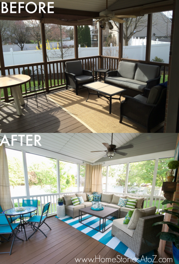 Luxury Screen Porch Makeover