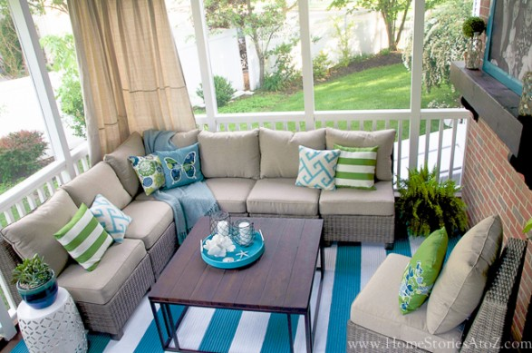 lowe 39 s screen porch and deck makeover reveal