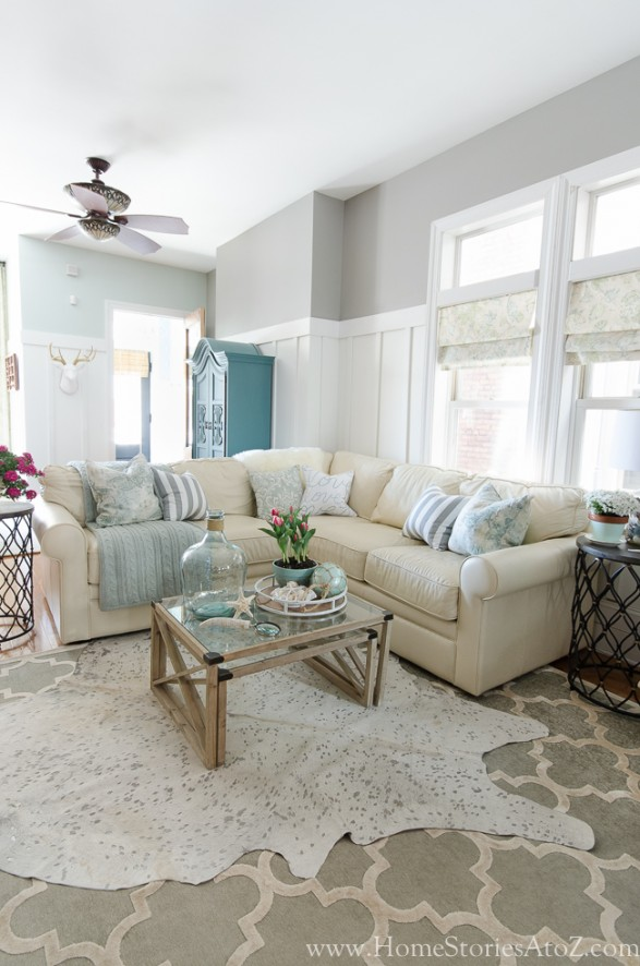 Dorian gray family room reveal with gallery wall home stories a to z