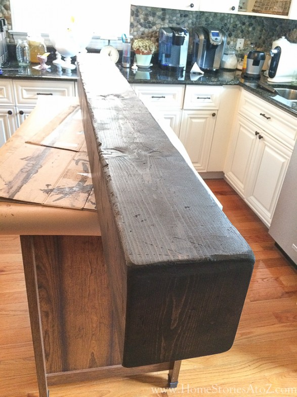How to build a box beam mantel for Wood box beam