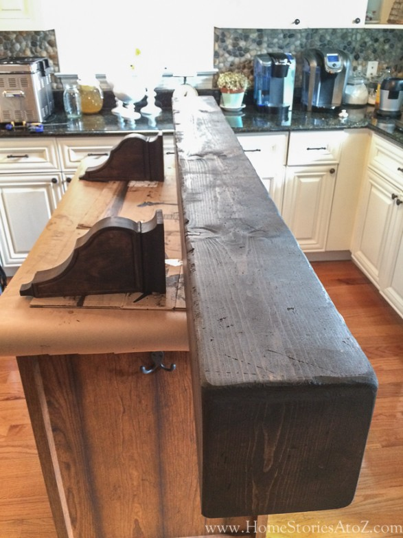 how to build beam mantel-8