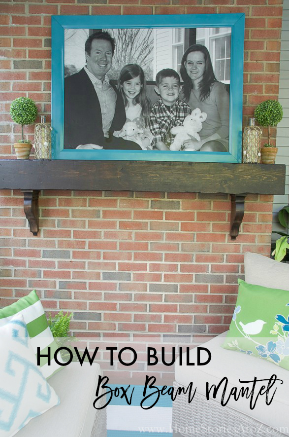 How to Build a Box Beam Mantel by Home Stories A to Z