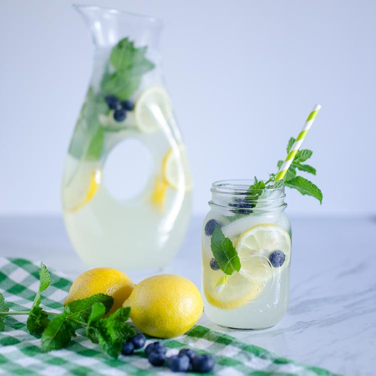 Homemade Blueberry Mint Lemonade Recipe
