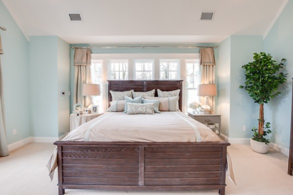 my favorite part of the master bedroom is the molding and windows stephen alexander homes always does a phenomenal job with their millwork