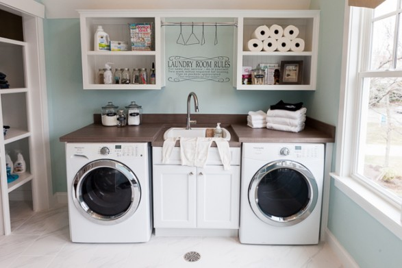 coastal laundry room