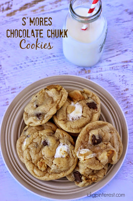 smores chocolate chunk cookies